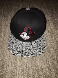 Black, white, and red Mickey Mouse embroidered snapback Langley, V3A 2E7