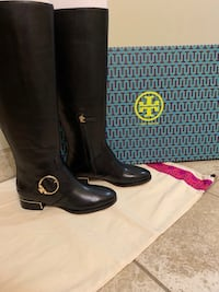 New Tory Burch black riding boots Gaithersburg, 20878