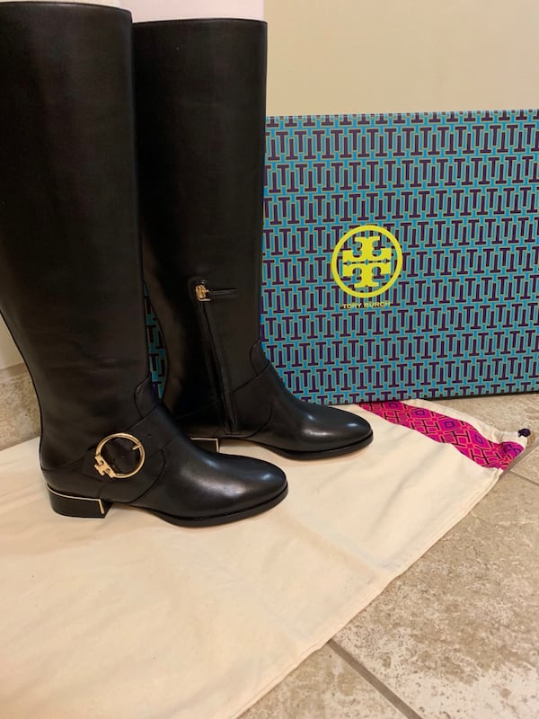 New Tory Burch black riding boots 0