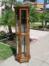 brown wooden framed glass display cabinet Modesto, 95356