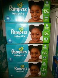 4 brand New Pampers baby dry size 6 104 count Mississauga