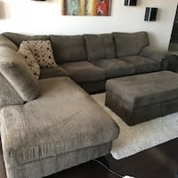 Morty chenille sectional (right) + ottoman Toronto, M1S