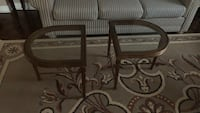 Two glass coffee/end tables Mississauga, L5M 5B4