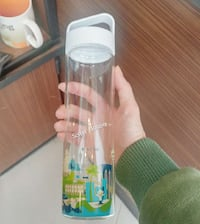 스타벅스 마카오 You Are Here Glass Water Bottle Seoul