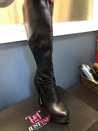 Just Fab high heel boots worn once Size 8 Toronto, M4N