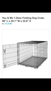 1-door folding crate with one bed mat for inside Danbury