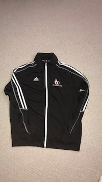 black and white Adidas zip-up jacket Vaughan, L6A 4T1