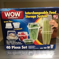 40 pieces wow containers interchangeable food storage system box Las Vegas, 89141