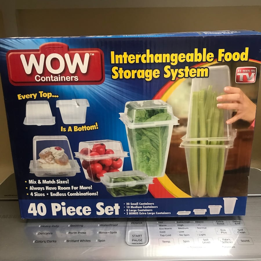 40 pieces wow containers interchangeable food storage system box