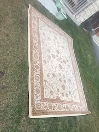 white and brown floral area rug Milton, L9E