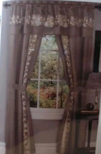 5pc Window Set- Taupe 55W x 84L- New