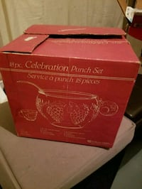 18-pc. Celebration punch set box Edmonton, T6W 0Y7