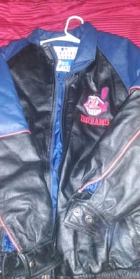 LEATHER CLEVELAND INDIANS COAT Youngstown