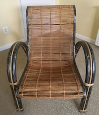 (2) Rattan and metal heavy duty Chairs. Annandale