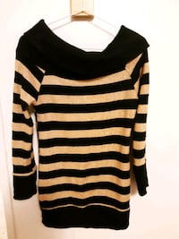 black and white stripe long sleeve shirt Mississauga, L5A 3P8
