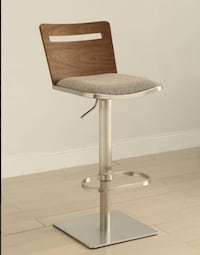 AC Pacific Danika Adjustable Height Swivel Bar Stool With Cushion( new still in box unopened-Negotiable ) Vaughan, L6A 0N2