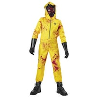 Zombie costume with mask and gloves large size kids London, N6B