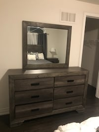 brown wooden dresser with mirror King, L7B 0A5