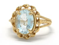 Ladies Gold/Aquamarine Ring Norfolk