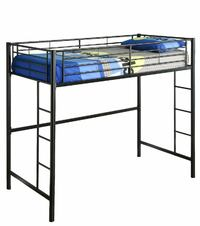 Black Metal TWIN premium loft bed Jersey City, 07307