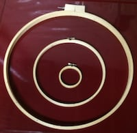 """18"""" 10"""" 3"""" Wooden Embroidery and Quilting Hoops For Sale Burlington"""