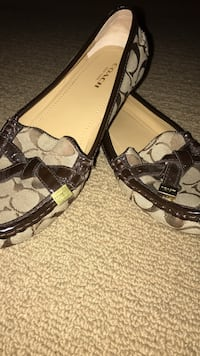 Monogrammed brown coach loafers Bridgewater, 02324