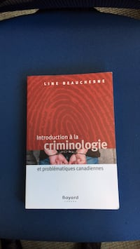 Introduction a la criminologie Ottawa, K1P 1J9