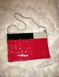 red and black leather wristlet Sanford, 32771