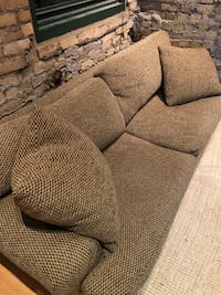 Large Woven Antique Sofa For Sale