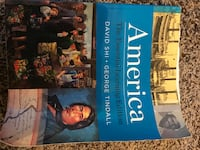US history ONE AMD TWO college textbook Ridgeland, 39157