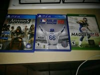 three Sony PS4 game cases Perth Amboy, 08861
