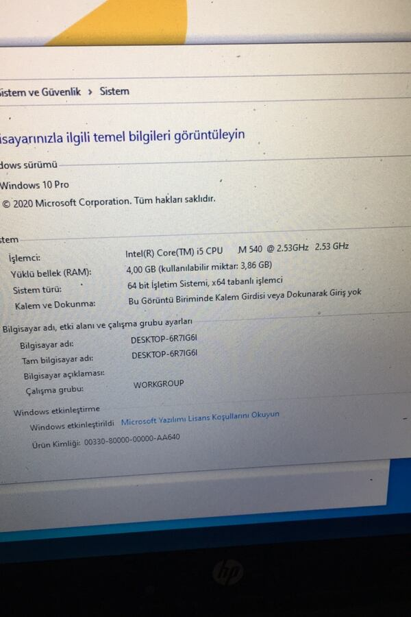 HP ELİTEBOOK 8540P 4