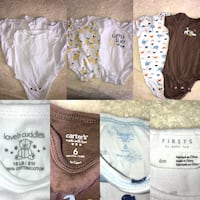 EUC 6 month Baby boy cotton onesies Oakville, L6H 2B5