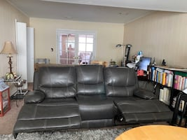 3 Piece Leather Couch/Sofa, Love Seat, and Recliner.