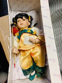 white and green floral dressed doll Suitland, 20762