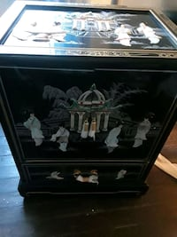 black wooden framed glass display cabinet Capitol Heights, 20743