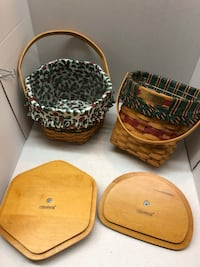 2 Longaberger Baskets with lids and liners Culpeper, 22701