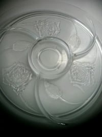 Crystal rose 4 section serveware. West Springfield, 22152