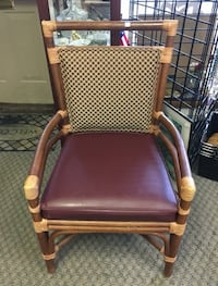 Bamboo, leather and fabric arm chair!  Olmsted Falls, 44138