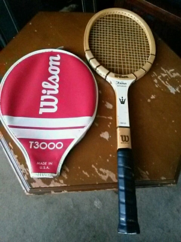 Used Vintage Wilson T3000 wooden tennis racket for sale in Toronto - letgo