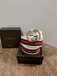 White/Red Gucci Belt Mississauga, L5B 2C9