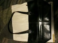 black and white leather tote bag 2270 mi