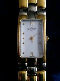 silver-colored analog watch with link bracelet Calgary