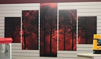 black and red abstract painting Lethbridge, T1H 5N3