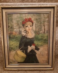 """Huldah """"Girl with Basket"""" Print 14"""" x 17:  Pick-up in Newmarket  (Ref # offtovv) Newmarket"""