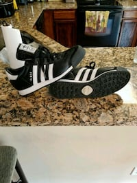 pair of black-and-white Adidas sneakers Fredericksburg, 22401
