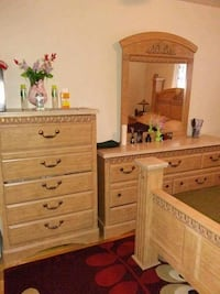 brown wooden dresser with mirror Ottawa, K1K 1Y5