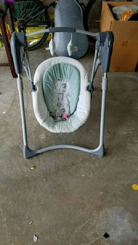baby's white and gray swing chair McAllen, 78501