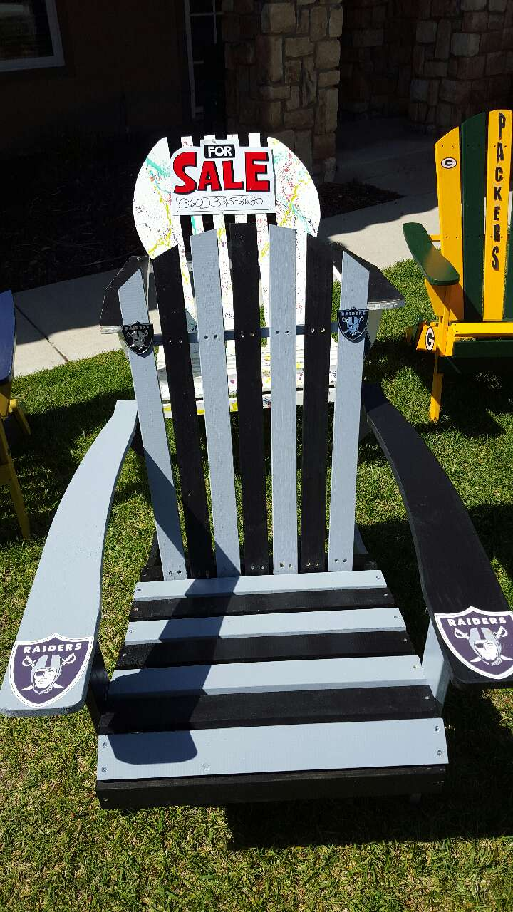 Oakland Raiders Adirondack Chair