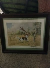 brown wooden framed painting of horse Omaha, 68197
